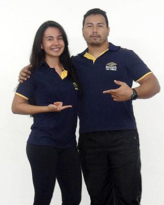 Isa Gutierrez e Domingos