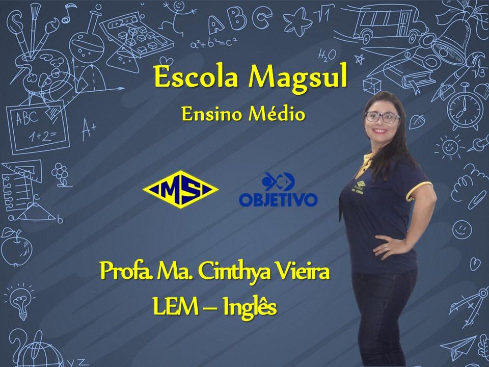 Profª. Mª. Cinthya Vieira