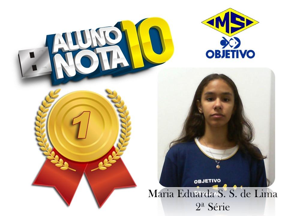 Maria Eduarda S. S. de Lima