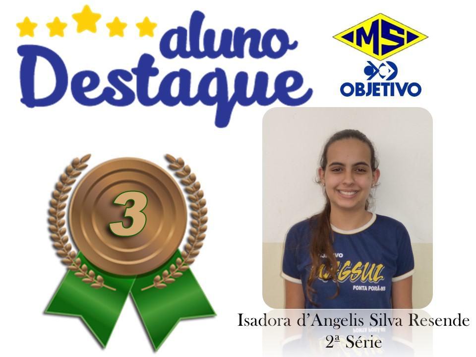 Isadora d'Angelis Silva Resende